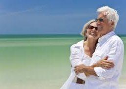 mature couple beach